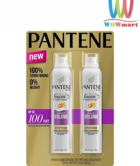 Dầu xả tạo bọt Pantene Pro-V Sheer Volume Foam Conditioner 170g set 2 chai