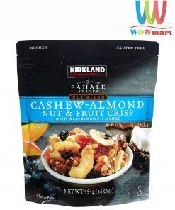 Hạt điều hạnh nhân Kirkland Signature Cashew Almond Nut Fruit Crisp 454g