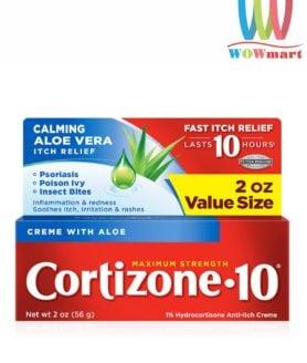 Kem bôi trị viêm ngứa da Cortizone 10 Calming Aloe Vera Itch Relief 56g