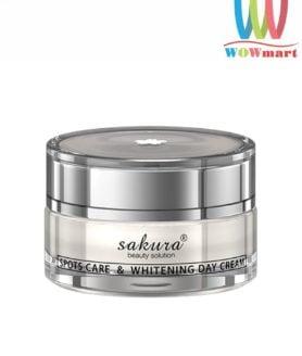 Kem trị nám dưỡng trắng da ban ngày Sakura Spots Care Whitening Day Cream 30g