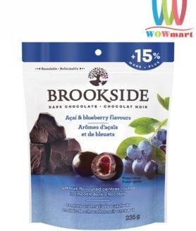 Kẹo chocolate đen Brookside nhân quả Việt quất Acai & Blueberry 235g