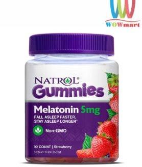 Kẹo dẻo giúp ngủ ngon Natrol Gummies Melatonin 5mg 90 viên