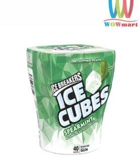 Kẹo gum không đường Ice Breakers Ice Cubes Spearmint 40 viên