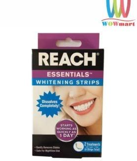 Miếng dán trắng răng Reach Essentials Whitening Strips 4 miếng