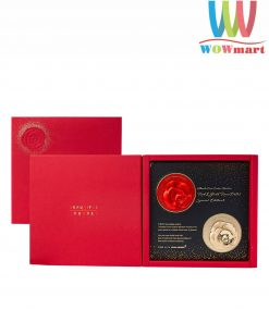 Set 2 phấn nước Ohui Asiana Airline Red & Gold Rose Petal Special Edition II 15g