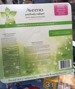 Set tẩy tế bào chết và dưỡng da Aveeno Positively Radiant