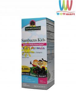 Siro tăng sức đề kháng cho bé Nature's Answer Sambucus Kid's Formula 120ml