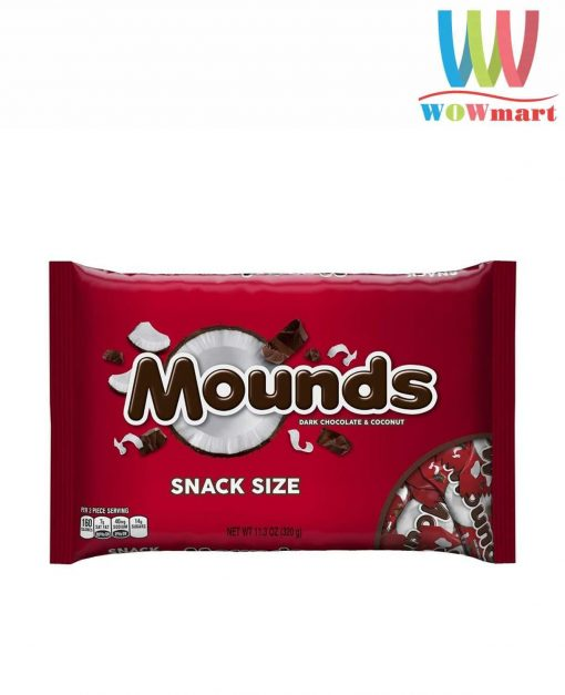 Socola dừa Mounds Dark Chocolate Coconut 320g