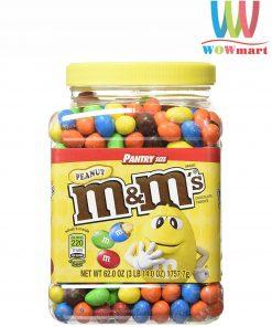 Socola M&M đậu phộng M&M's Peanut Chocolate Hủ 1757.7g