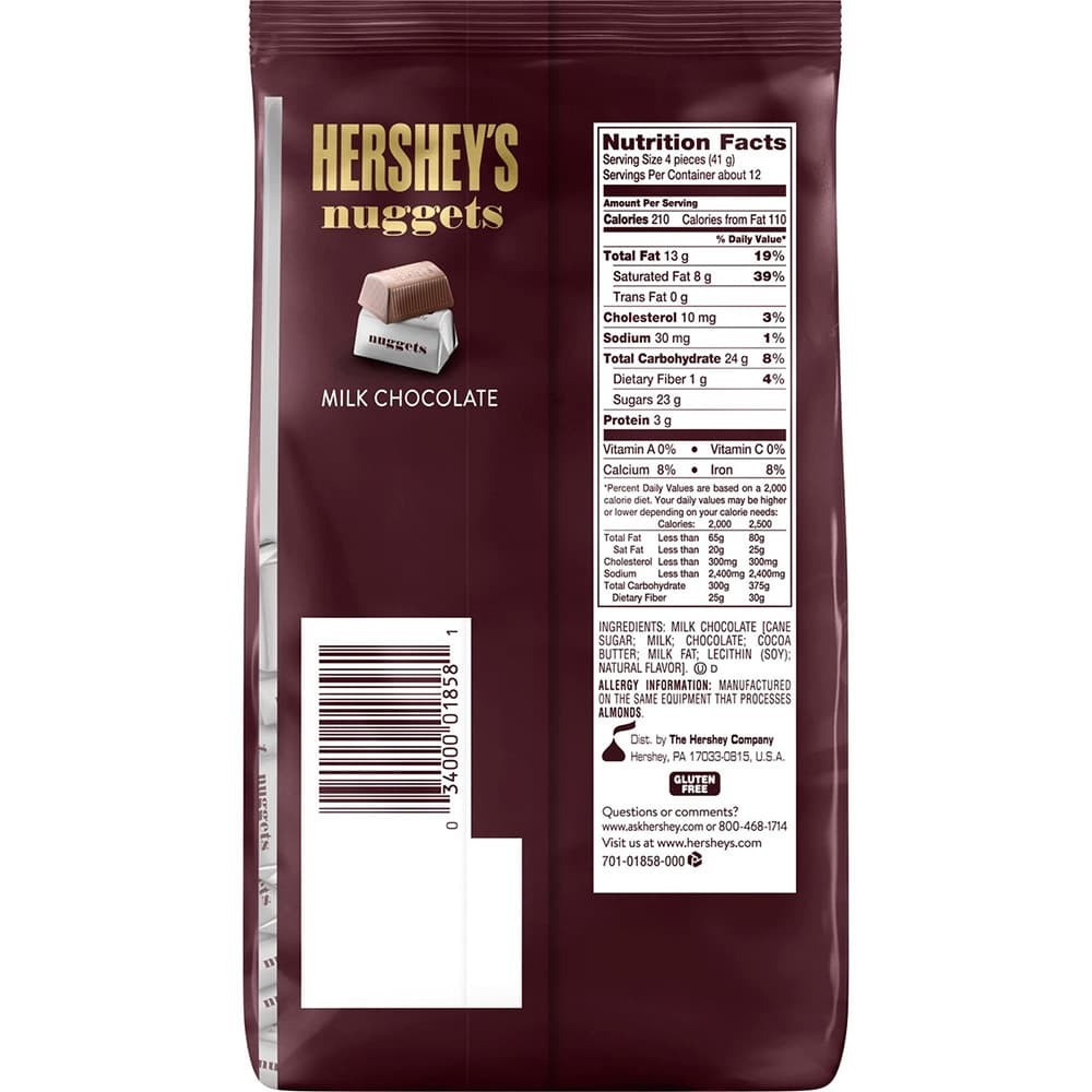 Socola sua Hershey's Nuggets Milk Chocolate 473g