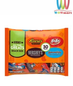 Socola tổng hợp 4 loại Hershey All Time Greats Snack Size 30 Pieces 451g
