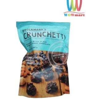 Socola việt quất hạnh nhân Brockmann's Crunchetti Dark Chocolate Blueberry Almond 567g