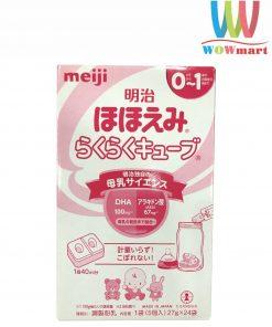 Sữa Meiji dạng thanh tiện lợi Meiji Nhật Bản cho bé từ 0-1 tuổi 27g x 24 thanh