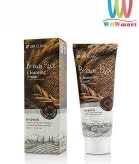 Sữa rửa mặt gạo nâu 3W Clinic Brown Rice Cleansing Foam 100ml
