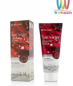 Sữa rửa mặt hoa hồng 3W Clinic Rose Water Cleansing Foam 100ml