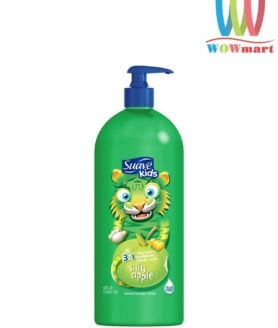 Sữa tắm gội xả cho bé Suave Kids 3 in 1 Silly Apple 1.18L