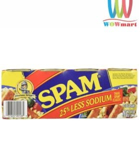 Thịt hộp Glorious Spam 25% Less Sodium 340g x 4 lon