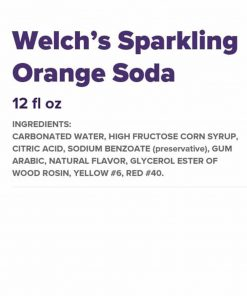 Thùng nước ngọt Welch's cam 12 lon