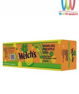 Thùng nước ngọt Welch's dứa 12 lon
