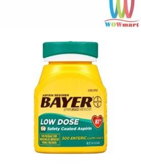 Thuốc giảm đau và ngăn ngừa nhồi máu cơ tim Bayer Low Dose Aspirin 81mg 300 viên