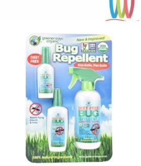 Thuốc xịt muỗi và côn trùng Greenerways Organic Bug Repellent lốc 3 chai