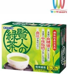 Trà xanh giảm mỡ máu và đường trong máu Orihiro Sage Nhật Bản 7g x 30 gói