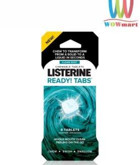 Viên ngậm thơm miệng Listerine Ready Tabs Clean Mint 8 viên