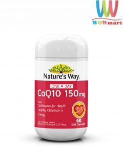 Viên uống CoQ10 hỗ trợ tim mạch Nature's Way CoQ10 150mg 60 viên