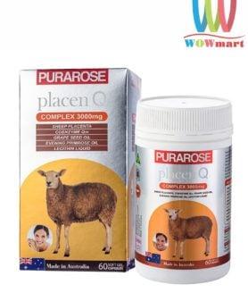 Viên uống nhau thai cừu Purarose Placen Q Complex 3000mg 60 viên