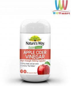 Viên uống từ giấm táo Nature's Way Super Foods Apple Cider Vinegar 400mg 60 viên