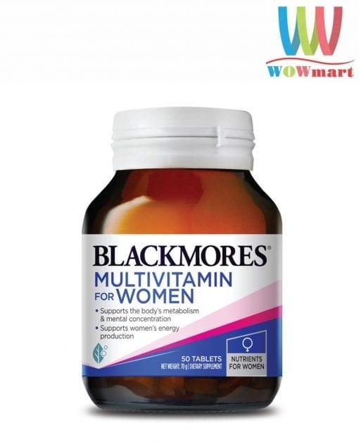 vitamin cho phu nu blackmores multivitamin for women 50 tablets k