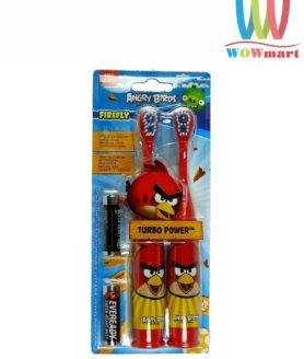 Bàn chải đánh răng bằng pin cho bé Angry Birds Turbo Power 2 cây đỏ