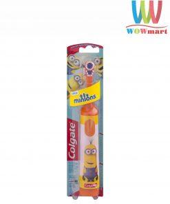 Bàn chải đánh răng trẻ em Colgate Minions dùng pin (màu cam)