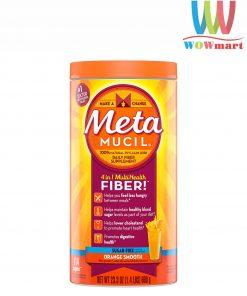 Bột cam bổ sung chất xơ Metamucil Multihealth Fiber Sugar Free 114 liều lượng