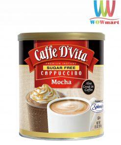 Cafe hòa tan không đường Caffe D'Vita Cappuccino Mocha Sugar Free 241g