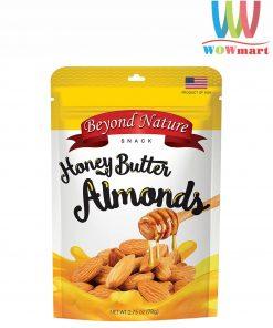 Hạnh nhân rang bơ mật ong Beyond Nature Honey Butter Almonds 78g