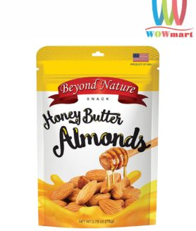 Hạnh nhân rang bơ mật ong Beyond Nature Honey Butter Almonds 78g
