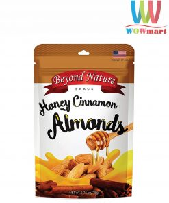Hạnh nhân rang quế mật ong Beyond Nature Honey Cinnamon Almonds 78g