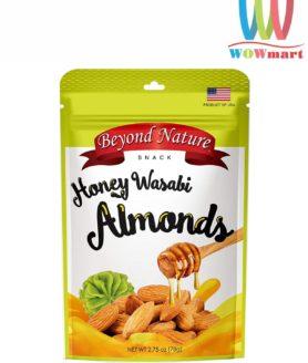 Hạnh nhân tẩm mù tạt mật ong Beyond Nature Honey Wasabi Almonds 78g