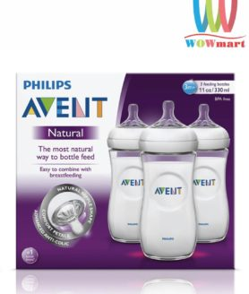 Hộp 3 bình sữa Philips Avent Natural 3m+ 330ml