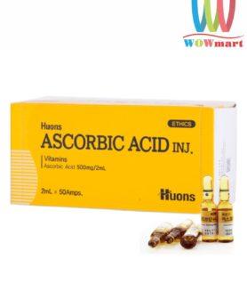 Huyết thanh chống lão hóa Huons Ascorbic Acid Vitamin C Inj Ampoules 2ml x 50 ống