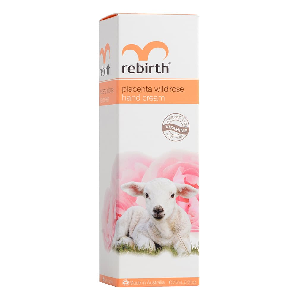 Kem dưỡng da tay Rebirth Placenta Wild Rose Hand Cream 75ml