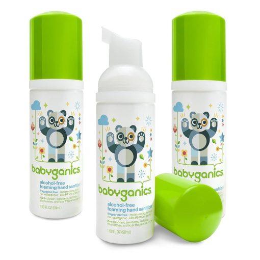 Nước rửa tay Babyganics Foaming Hand Sanitizer 50ml (không cồn, không mùi)
