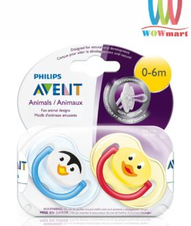 Set 2 ty ngậm Philips Avent Animals 0-6m