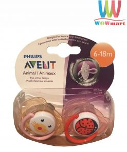 Set 2 ty ngậm Philips Avent Animals 6-18m