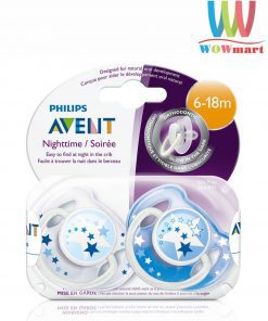 Set 2 ty ngậm Philips Avent Nighttime 6-18m