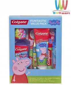 Set 4 món chăm sóc răng miệng cho bé Colgate Funtastic Value Pack Peppa Pig