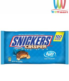 Socola caramen cốm đậu phộng Snickers Crisper Fun Size 300.8g