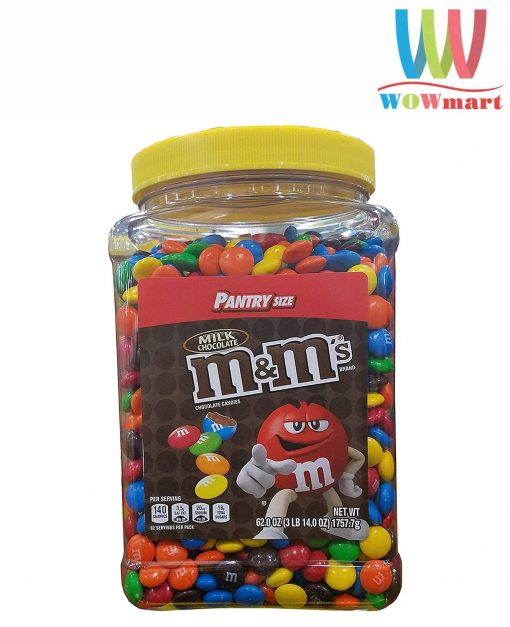 Socola M&M's Milk Chocolate Pantry Size Hủ 1757.7g