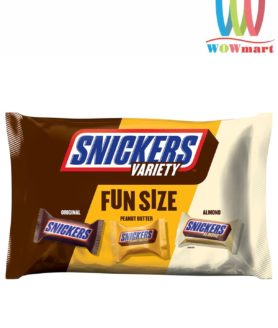 Socola Snickers 3 loại Snickers Variety Fun Size 293.7g